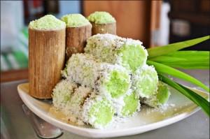 resepi cara buat kuih putu bambu pandan lembut