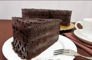 Resepi kek coklat moist topping ganache