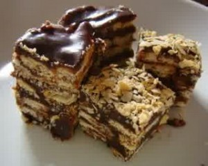 Resepi Kuih Batik Marie Coklat dan Cheese