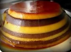 Resepi puding roti karamel lapis coklat