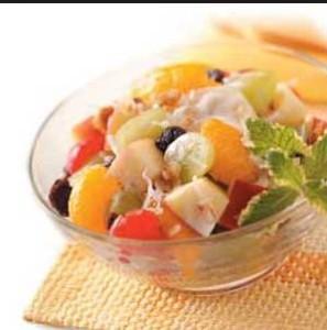 resepi salad buah kuah mayonnaise oren