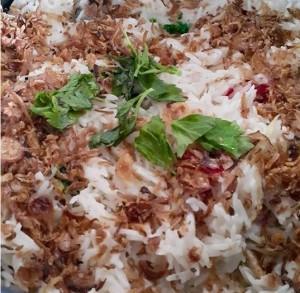 tabur hiasan nasi minyak hujan panas