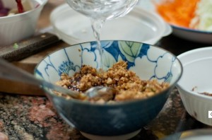 air sos kacang gado gado jawa indonesia