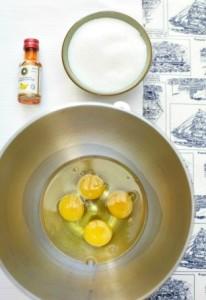 bahan kek pisang kukus moist telur