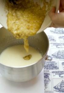 cara masak kek pisang kukus moist pisang lecek