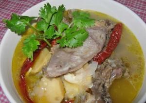 resepi bergambar sup singgang tulang lembu kelantan mudah sedap