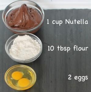 resepi brownies nutella mudah guna 3 bahan 02