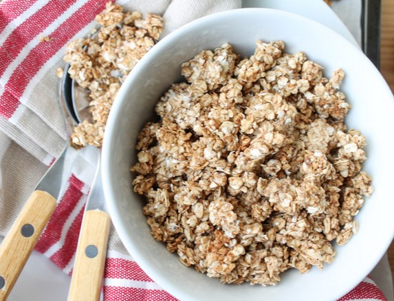 resepi sarapan sihat oat badam vanila guna periuk nasi