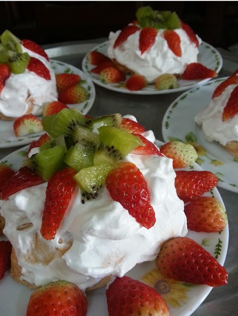 resepi mini pavlova strawberry step by step 01