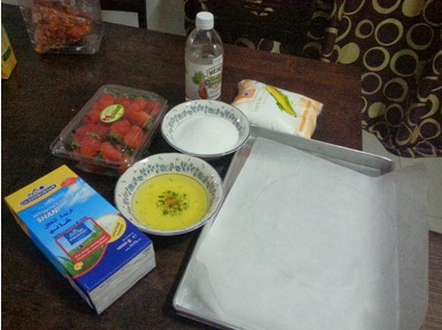 resepi mini pavlova strawberry step by step 02