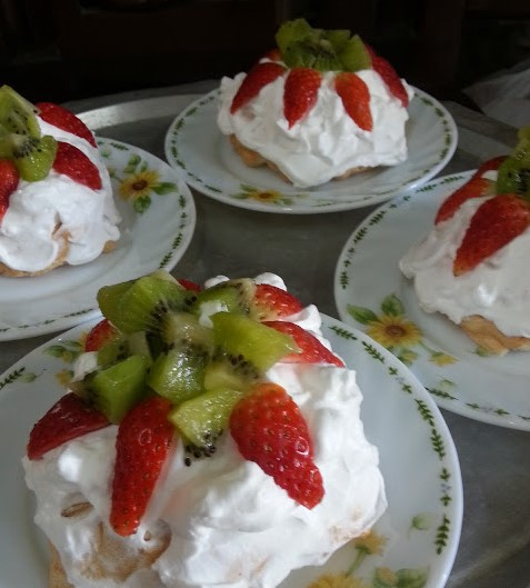 resepi mini pavlova strawberry step by step 09