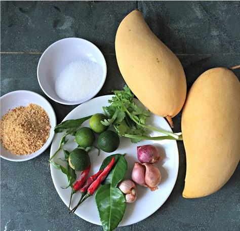 cara membuat resepi kerabu mangga muda simple utara thai chef wan mudah 02