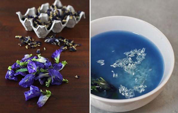 resepi nasi kerabu kelantan biru original simple 02