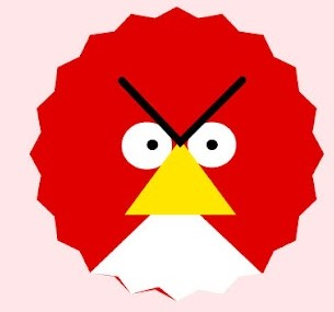 cara nak lukis apam polkadot versi angry bird 01