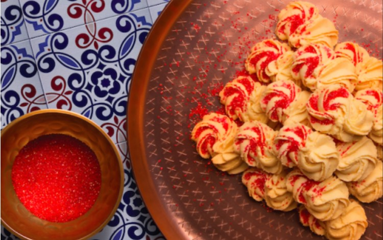 resepi cara membuat biskut semperit dahlia orange surprise bergambar step by step