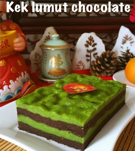 resepi kek lumut coklat sarawak mudah sedap