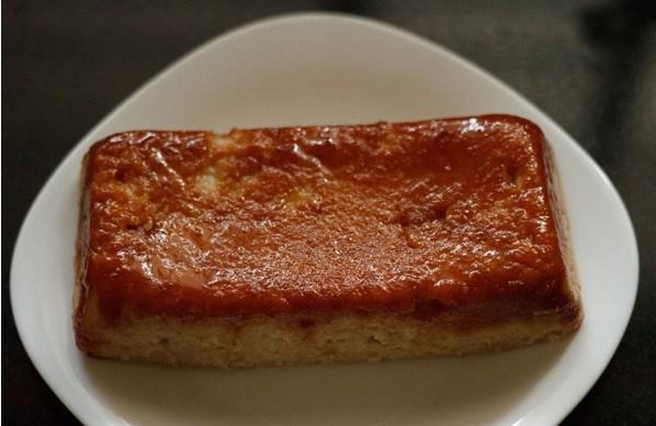 resepi puding roti kukus karamel simple tanpa telur 17