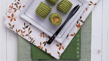 resepi tart nenas matcha green tea sedap mudah