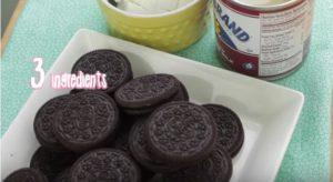 3 bahan oreo cheesecake tanpa bakar