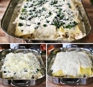 resepi lasagna ayam cheese langkah demi langkah 13