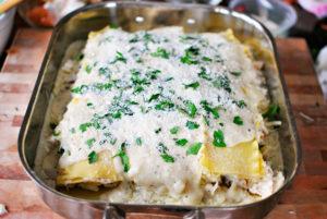 resepi lasagna ayam cheese langkah demi langkah 15