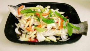resepi ikan siakap limau ala thai menyelerakan step by step 04