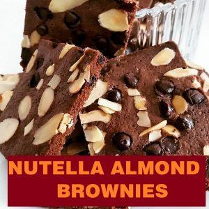 Resepi Nutella Almond Brownies Crunchy Step By Step Bergambar! Peminat Brownies Wajib Cuba!
