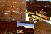 resepi kek batik bertoping choc ganache