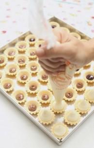 resepi cheese tart blueberry nutella buncit 04