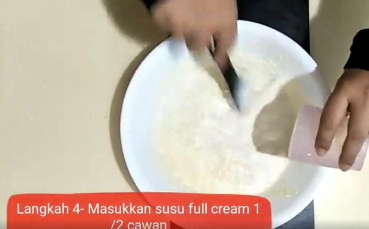 resepi cheesekut guna biskut cream cracker tanpa bakar 04