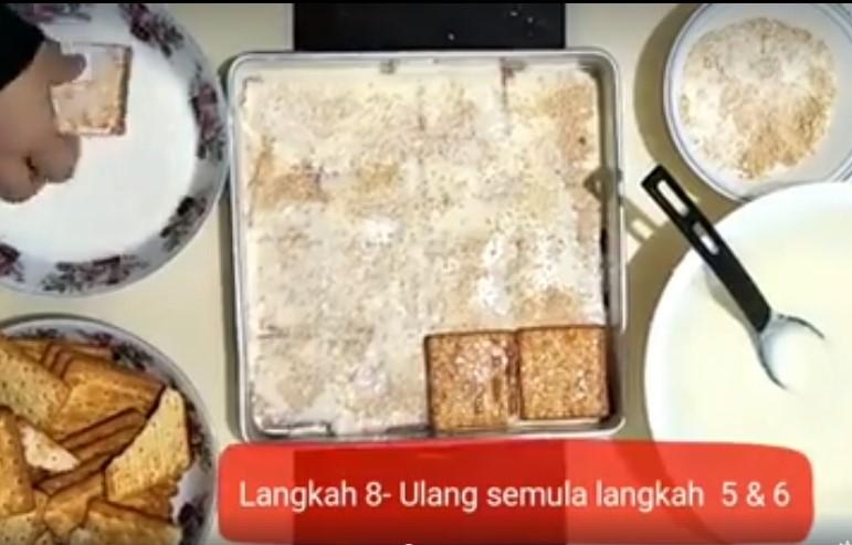 resepi cheesekut guna biskut cream cracker tanpa bakar 08