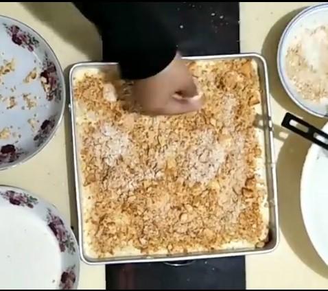 resepi cheesekut guna biskut cream cracker tanpa bakar 11