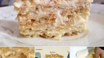 resepi cheesekut guna biskut cream cracker tanpa bakar