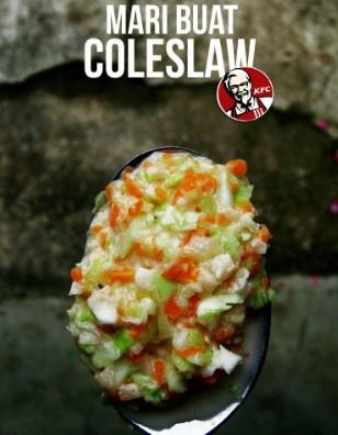 resepi coleslaw salad homemade kfc tanpa susu 00