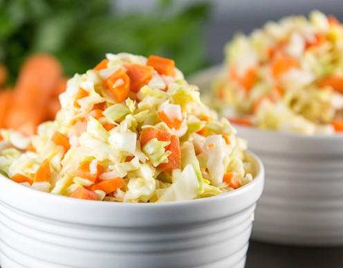 resepi coleslaw salad homemade kfc tanpa susu 01