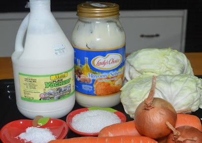 resepi coleslaw salad homemade kfc tanpa susu bahan bahan