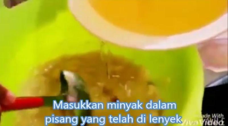 resepi kek pisang kukus sukatan cawan guna blender 03
