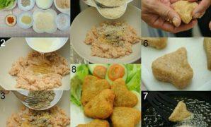 resepi nugget ayam buatan sendiri homemade sedap sihat tanpa msg