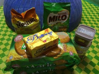 bahan-bahan kek batik nestum milo biskut marie tanpa telur