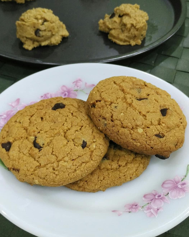 resepi biskut oat chocolate chip cookies subway diet paling sedap dan mudah