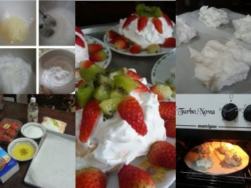 resepi mini pavlova step by step