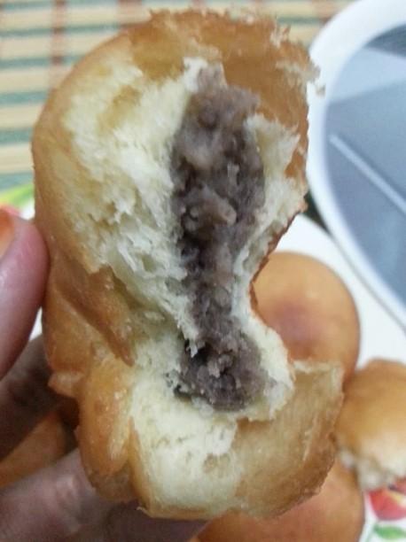resepi pau goreng inti kacang merah gebu tanpa telur 01