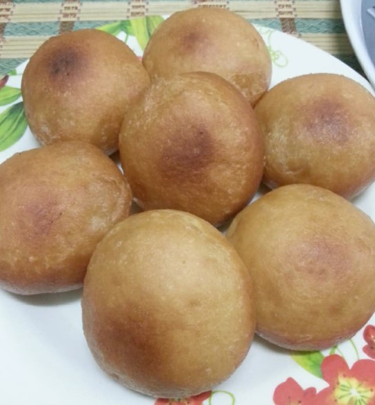 resepi pau goreng inti kacang merah gebu tanpa telur 02