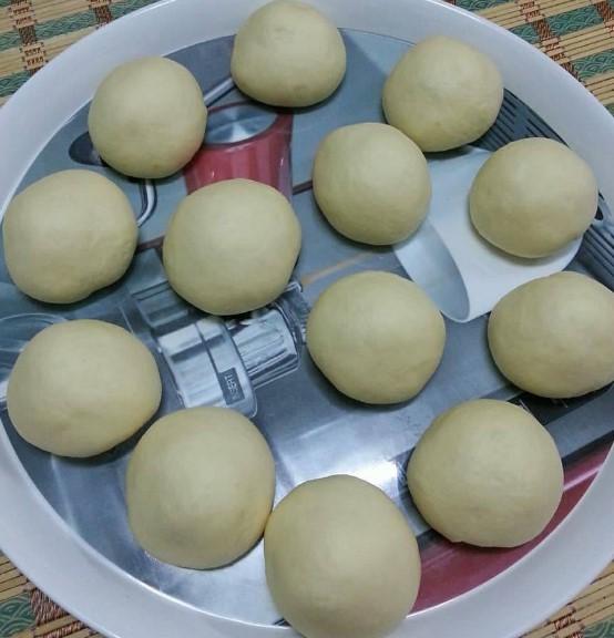 resepi pau goreng inti kacang merah gebu tanpa telur 03