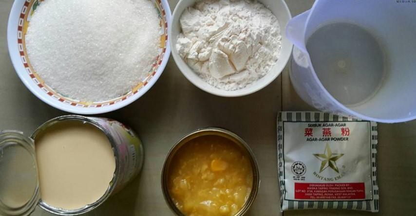 resepi puding jagung kastard sedap tanpa telur bahan bahan