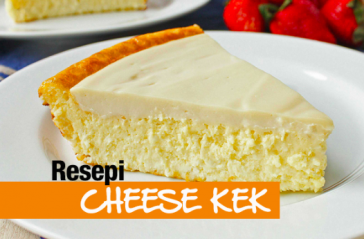 resepi cheese cake moist mudah step by step 01