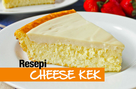 resepi cheese cake moist mudah step by step 01