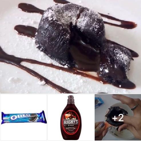 Resepi Kek Coklat Lava Guna Biskut Oreo 2 Bahan Je Tanpa