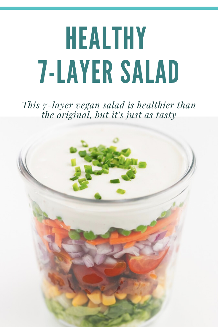 healthy 7-layer vegan salad pinterest