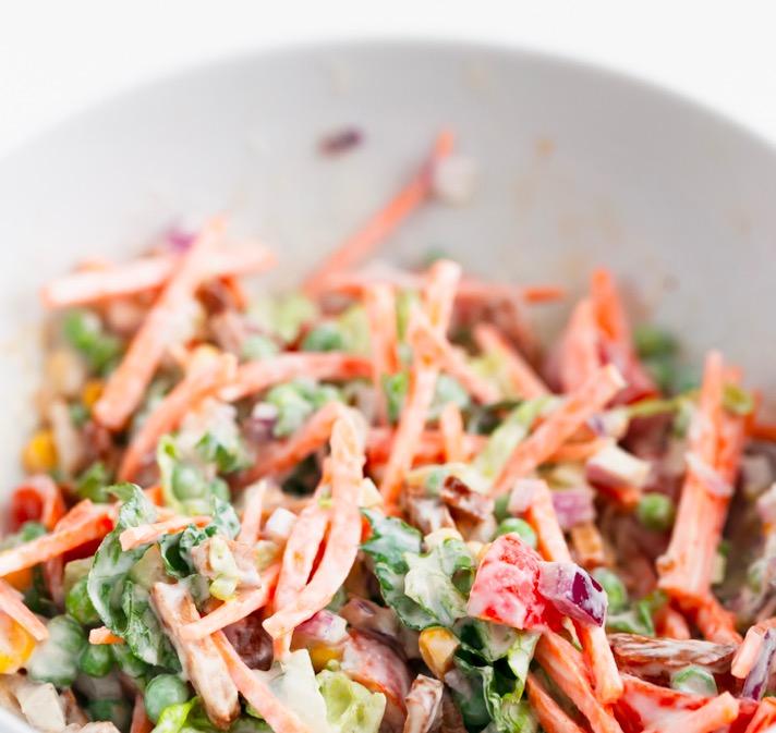 Delicious Healthy 7-layer vegan salad